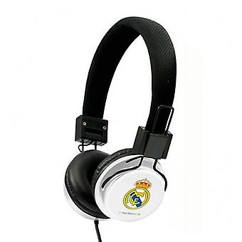 Headphones with headband real madrid c.f. white black
