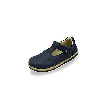Bobux kid+ louise navy t-bar shoes