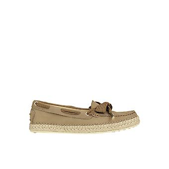 Tod's Ezgl027058 Women's Grey Suede Loafers