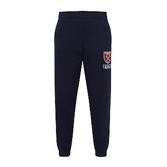 West Ham United FC Officiel Football Gift Boys Slim Fit Fleece Joggers Jog Pantalon