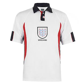 Score Draw Mens England 98 Home Jersey Short Sleeve Breathable Sports Top