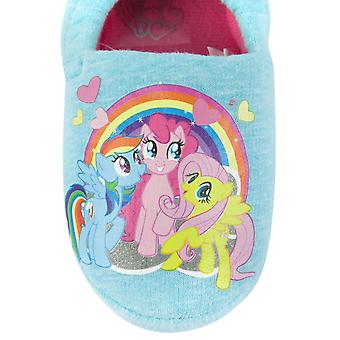 My Little Pony Characters Blue Girl's Slippers