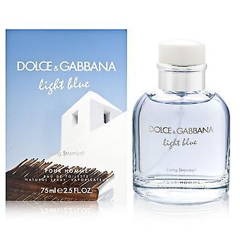 Hellblaue lebende stromboli von dolce & Gabbana für Männer 2,5 oz Eau de Toilette Spray