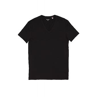 Paul Smith Accessories Mens Slim Fit Ss V Neck T Shirt