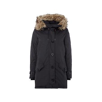 Ralph Lauren Ezcr012017 Women's Black Polyester Coat