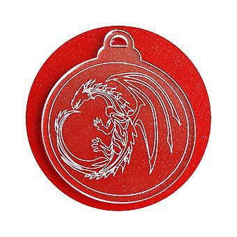 6 Pk cercle Dragon acrylique Noël décorations