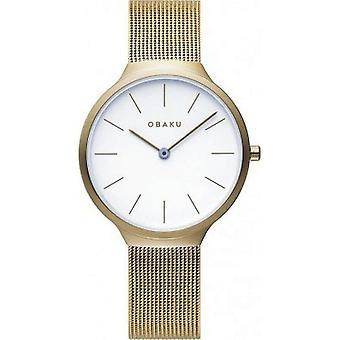OBAKU - Wristwatch - Ladies - ARK LILLE-GOLD - V240LXGWMG