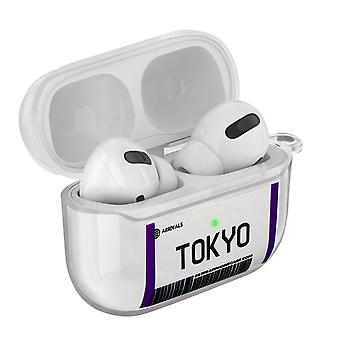 Coque AirPods Pro Design Billet Tokyo Souple Anti-rayure Mousqueton Transparent
