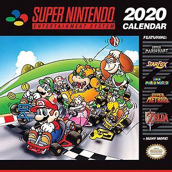 Super Nintendo SNES 2020 Vägg Kalender
