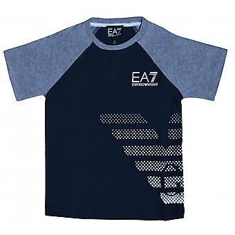 EA7 Boys EA7 Boy's Night Blue T-Shirt