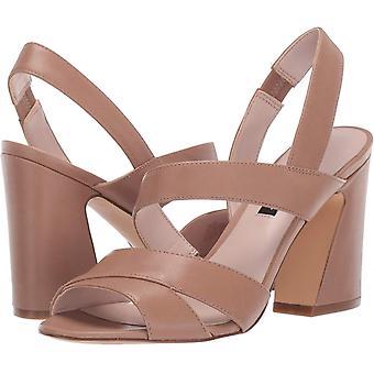 Nine West Women's Shoes WNNOHEMI-270 Leather Peep Toe Casual Slingback Sandals