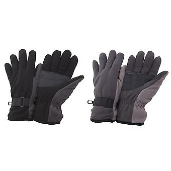 FLOSO Mens Heavy Fleece Winter/Ski Thermal Gloves With Grip
