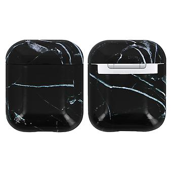 AirPods 1/2 Rigid Shockproof Anti-Scratch Marble Pattern Akashi Black