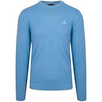 GANT Blauwe Honingraat Sweatshirt