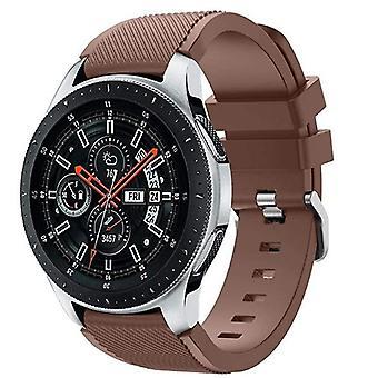 für Samsung Galaxy 42mm / 46mm Uhr Armband Armband Armband Silikon[46mm,braun]