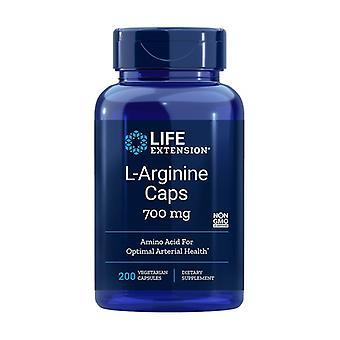 Arginina 700 mg 200 cápsulas vegetais