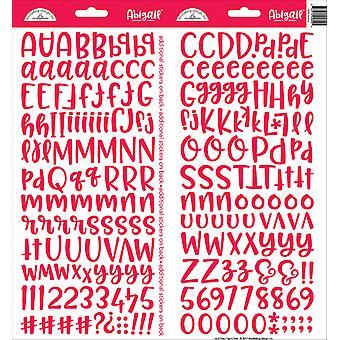 تصميم خربشات الخربشة الملصقات أبيغيل