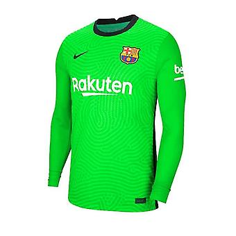 2020-2021 Barcelona Hemmamålvakt Skjorta (Grön)