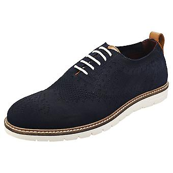 London Brogues Healey Mens Casual Shoes in Navy