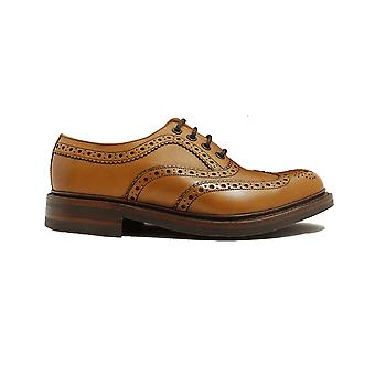 Loake Edward Tan Burnished Calf Leather Mens Derby Shoes