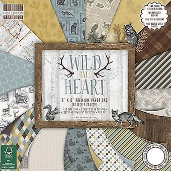 Första utgåvan FSC 8x8 tums papper pad Wild at Heart