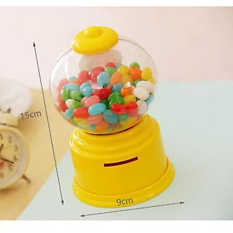 Novedad Coreana Dulces Lindos Candy Machine - Coin Bank Bubble Gumball Candy Dispenser Regalo para Niños y Niños