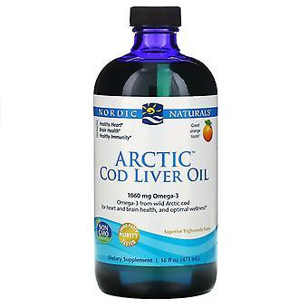 Nordic Naturals, Huile de foie de morue arctique, Orange , 16 fl oz (437 ml)