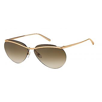 Sunglasses Women for thin halbrand glasses copper brown