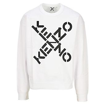 Kenzo | 5sw521 4ms Cross Logo Crew Sweat Top - hvit