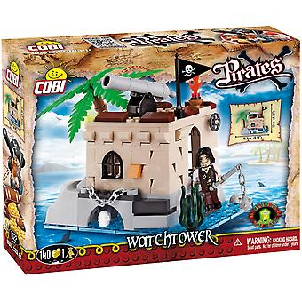 Cobi Pirate Watch Tower Small Castle Kids Blocks Bricks 140Pc Compatible Age 5+