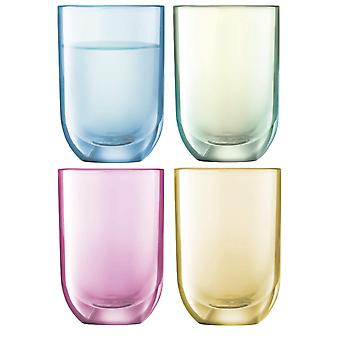 LSA Glassware Polka by LSA International Vodka Glasses 60ml Pack of 4 Hand Painted