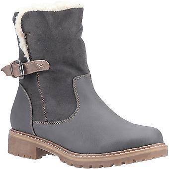 Divaz Women-apos;s Melanie Mid Buckle Boot Dark Brown 29324-49652