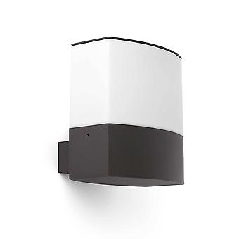 Faro Datna - 1 Lichte Buitenmuur Licht Wit, Donkergrijs IP44, E27