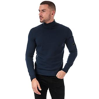Men-apos;s C.P. Company Knitted Roll Neck in Blue