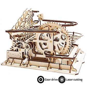 3d Wooden Mechanical Puzzle  Model Building Kits Laser Cutting Action By