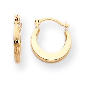 14k Yellow Gold Hollow Polished Hinged post Small Hoop Earrings Measures 9x9mm Jewelry Gifts for Women