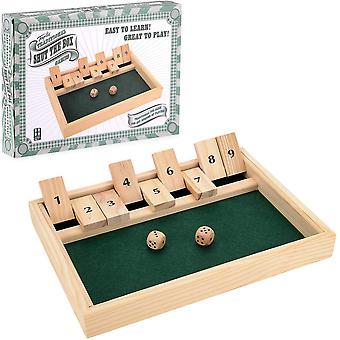 Toyrific Wooden Shut The Box Game