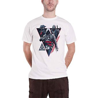 Assassins Creed T Shirt Linear Logo new Official Gamer Mens White