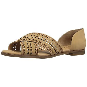 Lucky Brand Womens Gallah2 Leather Peep Toe Special Occasion Slide Sandals
