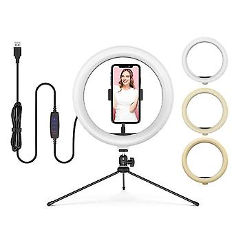 Dimbar Led Bluetooth Selfie Ring Light Med Stativ stativ