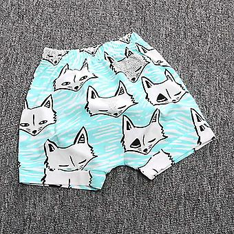 Kids Baby Short Pants Boys Girls Cartoon Animal Pattern Loose Casual Leggings Trousers Summer Clothing