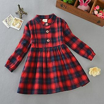 Spring Autumn Princess Dress- Cotton Long Sleeve Dresses