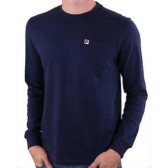 פילה Thames שרוול ארוך חולצת טי נייבי 82
