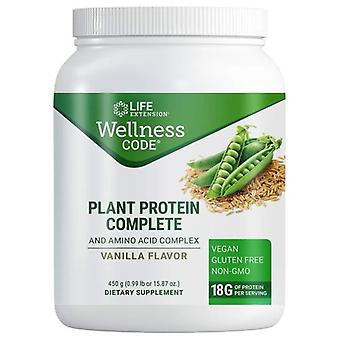 Life Extension Plant Protein Complete and Amino Acid Complex, Vanilla 450 Grams
