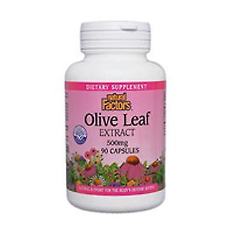 自然要因オリーブリーフエキス, 500 mg, 90 キャップ