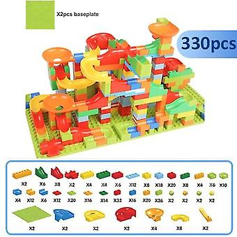 Kids Toy Marble Blocks Exécuter Compatible Duploed Building Blocks Entonnoir Slide
