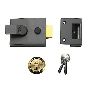 Yale P89 Impasse Nightlatch DMG Cetim Chrome Cylinder 60mm Backset Visi