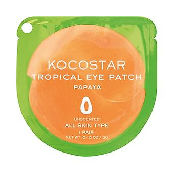 Kocostar Papaya Radiant Glow Under Eye Patch - 1 Pair