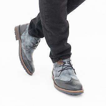 ريكر B1343-14 رجال واسعة المناسب الدانتيل حتى الكاحل أحذية الأزرق