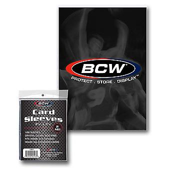BCW Deck Protectors Thick Card Clear (100 Per Pack)